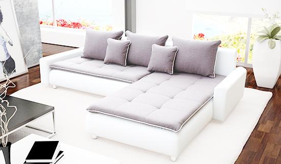 bọc sofa chữ L cho phòng khách