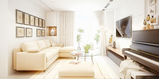 sofa căn hộ thiết kế theo yêu cầu