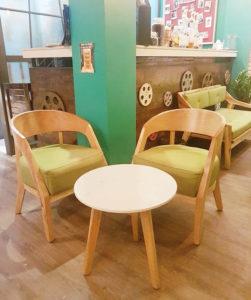 bọc ghế nệm sofa cafe