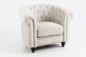 sofa đơn vải nỉ cổ điển