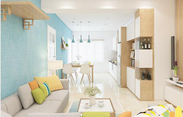 cách trang trí nội thất căn hộ nhà chung cư 69m2