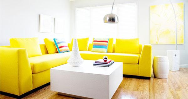 bộ ghế sofa màu vàng
